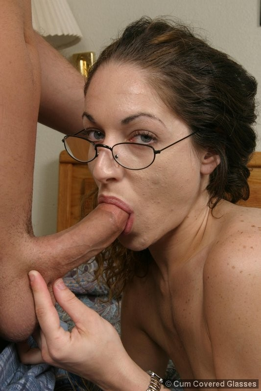glasses blowjob