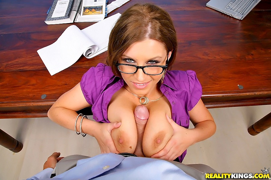 titty fuck at work