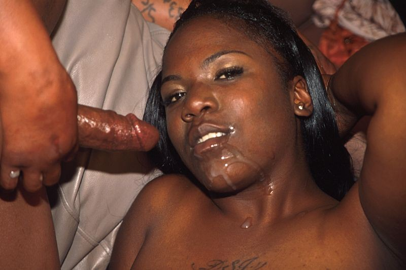 dark skinned ebony facial