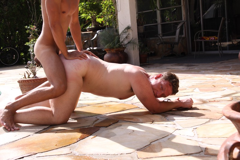 ass fucked guy outside