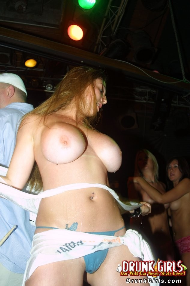 tit flashing party girl