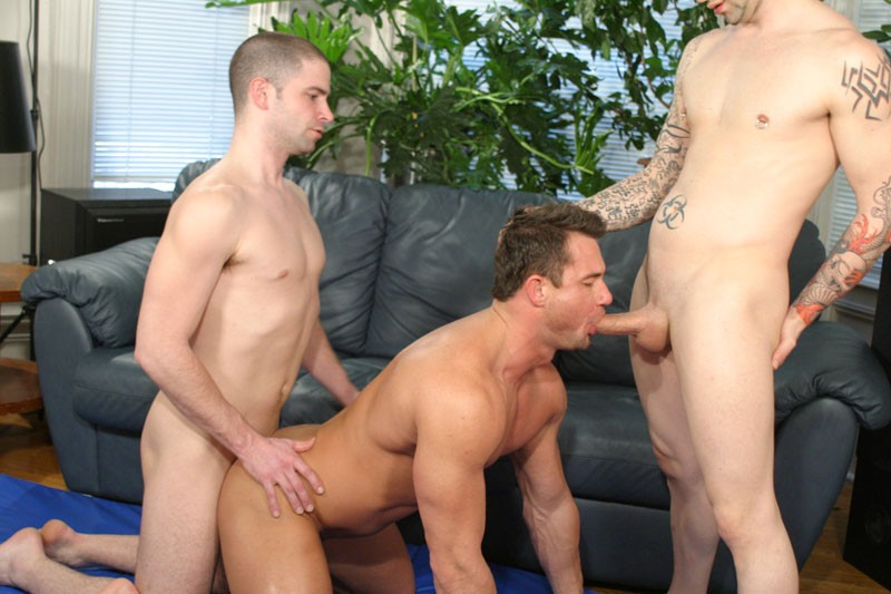 hardcore gay threesome