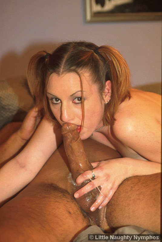 cum drips down a cock after a blowjob