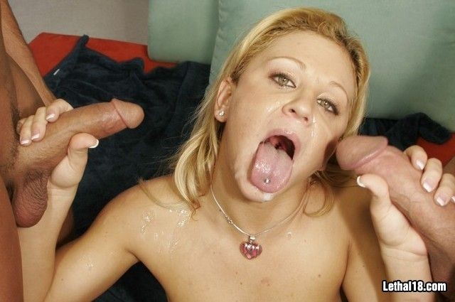 pretty lady receives double facial