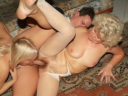 two old women threesome one guy