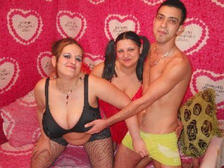 horny threesome two girls one guy
