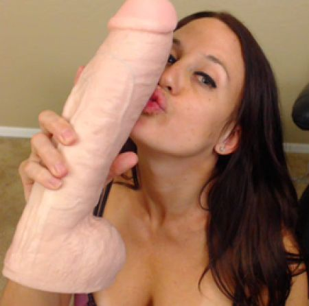 huge dildo kissed
